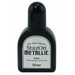 Tsukineko Staz-On Ink Refill - Metallic Silver