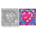 Tutti Designs - Cutting Die - Heart Stained Glass