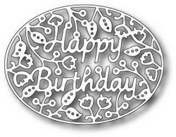 Tutti Designs - Cutting Die - Happy Birthday Oval