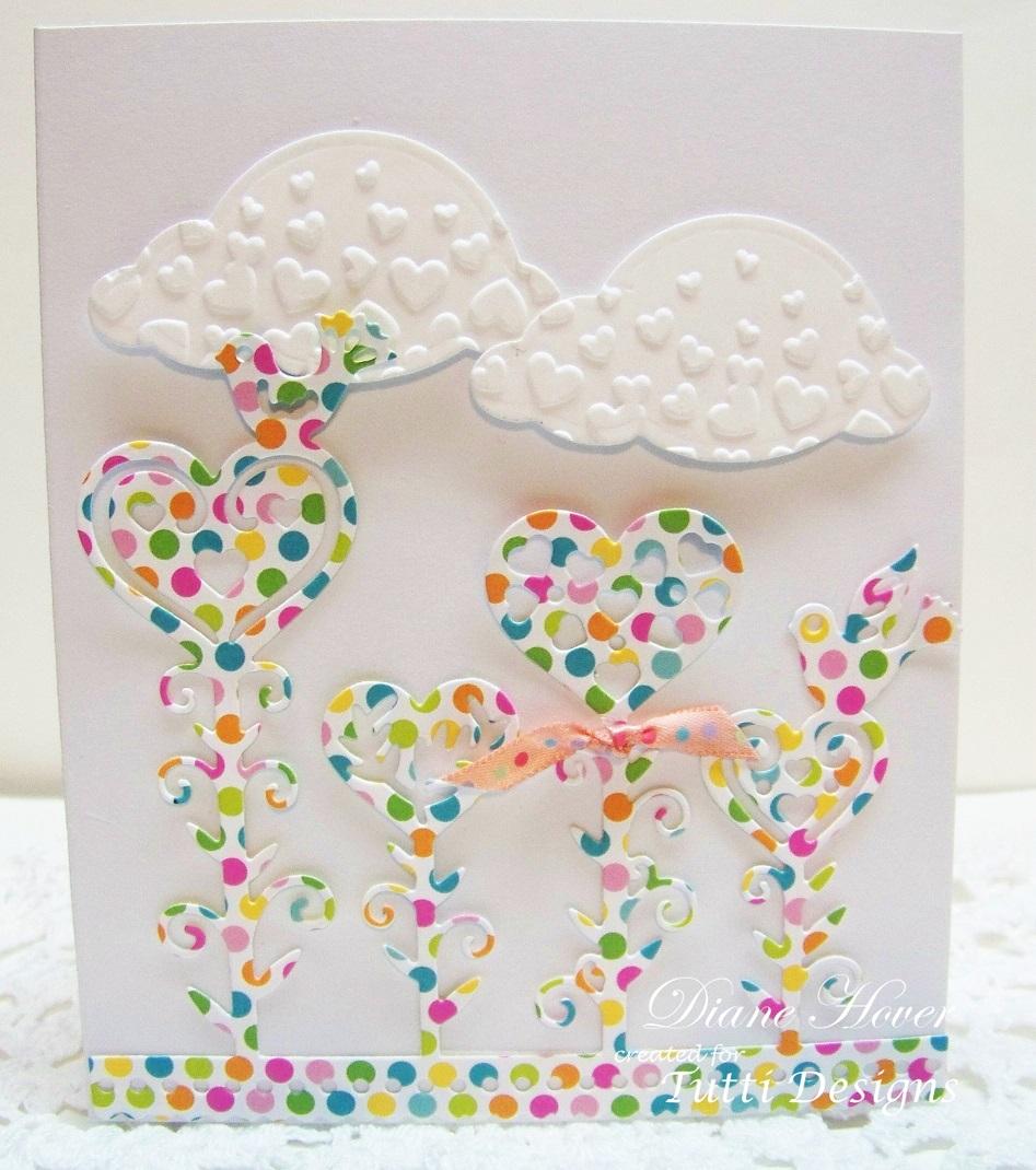 Tutti Designs Cutting Die Heart Flower Garden