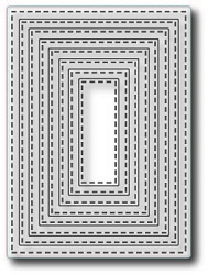 Tutti Designs - Cutting Die - Nesting Stitched Rectangles