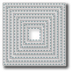 Tutti Designs - Cutting Die - Nesting Stitched Squares