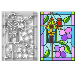 Tutti Designs - Birdhouse Stained Glass