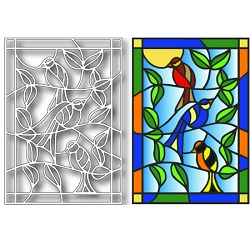Tutti Designs - Birds Stained Glass