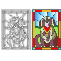 Tutti Designs - Dog Stained Glass