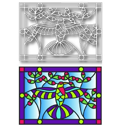 Tutti Designs - Hummingbird Stained Glass