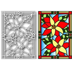Tutti Designs - Poinsettia Stained Glass