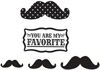 Unity Cling Rubber Stamp - Echo Park Favorite Mustache