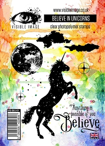 Visible Image - Clear Stamp - Believe In Unicorns