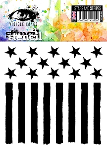 Visible Image - 6x6 Stencil - Stars & Stripes