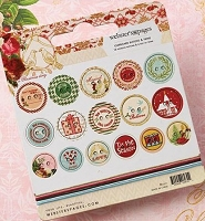 Webster's Pages - A Christmas Story Collection - Self Adhesive Chipboard Buttons
