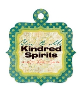 We-R-Memory Keepers - Anthologie - Kindred Spirits - Embossed Tag