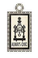 We-R-Memory Keepers - Antique Chic - Chic - Embossed Tag