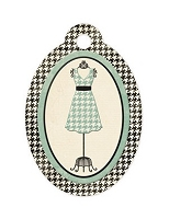 We-R-Memory Keepers - Antique Chic - Dress - Embossed Tag