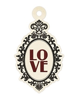 We-R-Memory Keepers - Antique Chic - Love - Embossed Tag
