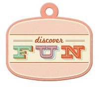 We-R-Memory Keepers - Jet Set Collection - Embossed Tag - Fun
