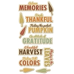 We R Memory Keepers-Autumn Splendor-Layered Chipboard words