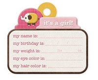 We-R-Memory Keepers - Baby Mine - It's A Girl Embossed Tag