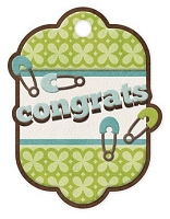 We-R-Memory Keepers - Baby Mine - Congrats Boy Embossed Tag