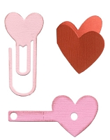 Lifestyle Crafts/We R Memory Keepers - Cutting dies - Heart Clips