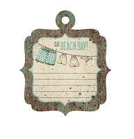 We-R-Memory Keepers - Down The Boardwalk - Embossed Tag - Beach Day