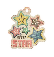 We-R-Memory Keepers - Down The Boardwalk - Embossed Tag - Star