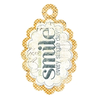 We R Memory - Good Day Sunshine - Embossed Tag - Smile
