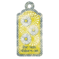 We R Memory - Good Day Sunshine - Embossed Tag - Shine On