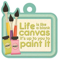 We-R-Memory Keepers - Love to Craft - Embossed Tag - Life is a Canvas