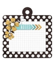 We-R-Memory Keepers - Indian Summer Collection - Embossed Tag - Summer Notes