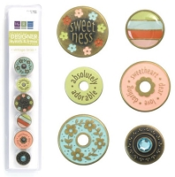 We R Memory Eyelets & Snaps - Vintage Brass