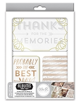We-R-Memory Keepers -  Albums Made Easy  - Journaling Cards - Sheer Metallic Collection