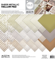 We-R-Memory Keepers - Sheer Metallics Collection (vellum)