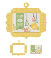 We-R-Memory Keepers - Simply Spring - Embossed Frame - Colored Eggs