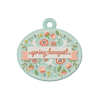 We-R-Memory Keepers - Simply Spring - Embossed Tag - Bouquet