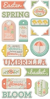 We-R-Memory Keepers - Simply Spring - Layered Chipboard Stickers
