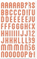 We-R-Memory Keepers - Simply Spring - Chipboard Alphabet Stickers