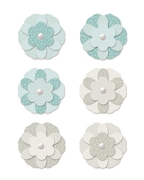 We-R-Memory Keepers - Winter Frost - Paper Flower Brads