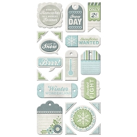 We-R-Memory Keepers - Winter Frost - Layered Chipboard Tags