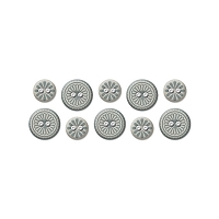 We-R-Memory Keepers - Winter Frost - Printed Fabric Buttons
