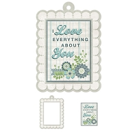 We-R-Memory Keepers - Winter Frost - Love - Embossed Frame