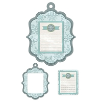 We-R-Memory Keepers - Winter Frost - Winter Notes - Embossed Frame