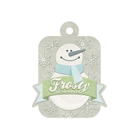 We-R-Memory Keepers - Winter Frost - Frosty - Embossed Tag