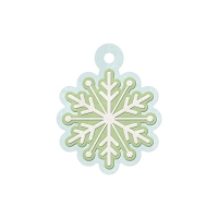 We-R-Memory Keepers - Winter Frost - Snowflake - Embossed Tag