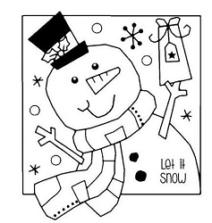 Woodware Craft - Clear Stamp - Jolly Snowman