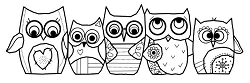 Woodware Craft - Clear Stamp - Owls