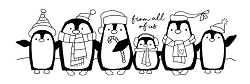 Woodware Craft - Clear Stamp - Penguin Parade