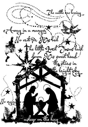 Woodware Craft - Clear Stamp - Vintage Nativity