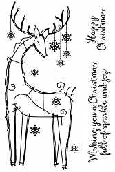Woodware Craft - Clear Stamp - Snowflake Reindeer