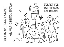 Woodware Craft - Clear Stamp - Top Hat Snowman